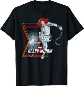 Camiseta Black Widow Dibujo Viuda Negra En Acción