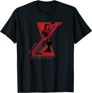 Camiseta Black Widow Logotipo Doble