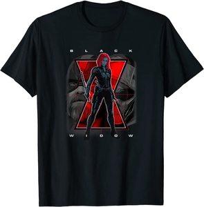 Camiseta Black Widow Logotipo Foto Cuerpo