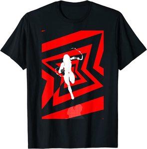 Camiseta Black Widow Logotipo Silueta