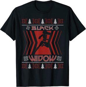 Camiseta Black Widow Natasha Romanoff Navidad