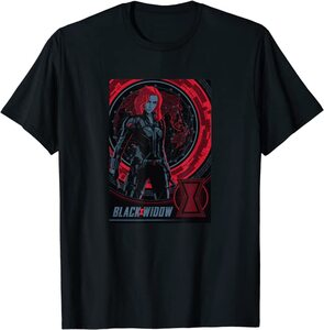 Camiseta Black Widow Poster Logo Mundo