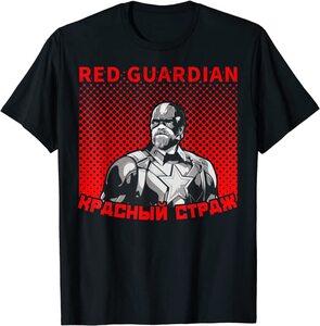 Camiseta Black Widow Red Guardian Letras Rusas