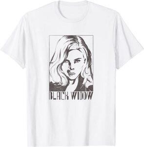 Camiseta Black Widow Sello Retrato Viuda Negra