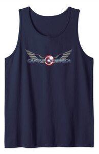 Camiseta Falcon y el Soldado de Invierno el Nuevo Logo del Capitan América con alas