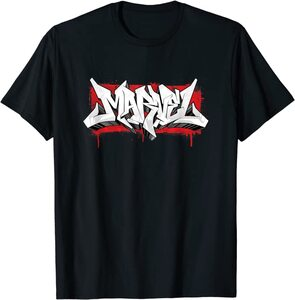 Camiseta Logotipo Marvel Graffiti
