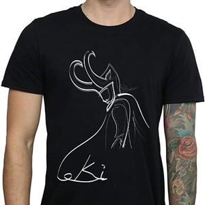 Camiseta Loki Dibujo Silueta