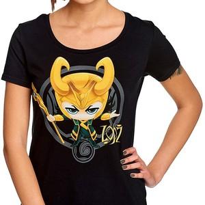 Camiseta Loki Dibujo para chica