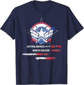 Camiseta Manga Corta Capitán América y el Soldado de Invierno Graffiti