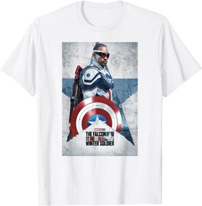 Camiseta Manga Corta Falcon y el Soldado de Invierno Poster Sam Wilson Capitán América