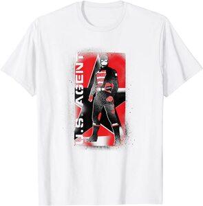 Camiseta Manga Corta Falcon y el Soldado de Invierno U.S. Agent Walker