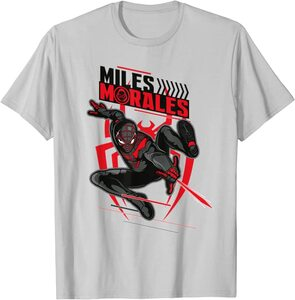 Camiseta Spider-Man Miles Morales Lanza Telaraña