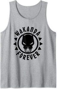 Camiseta sin mangas Black Panther Wakanda Forever Icono Circular
