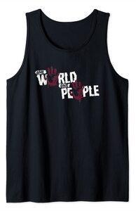Camiseta sin mangas Falcon y el Soldado de Invierno Los Sin Banderas Slogan Un Mundo, Un Pueblo Grande