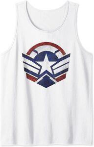 Camiseta sin mangas Falcon y el Soldado de Invierno el Nuevo Logo del Capitan América Escudo