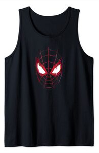 Camiseta sin mangas Spider-Man Miles Morales Máscara