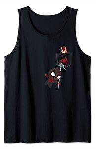Camiseta sin mangas Spider-Man Miles Morales Spider-Cat