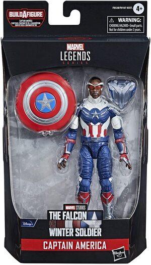 Figura Marvel Legends Falcon y El Soldado de Invierno Sam Wilson Capitan America