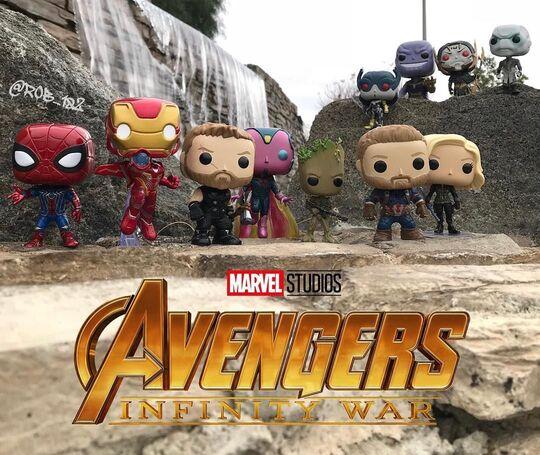 Foto de la Funko Tienda de Marvel. Funko Pop Vengadores Infinity War