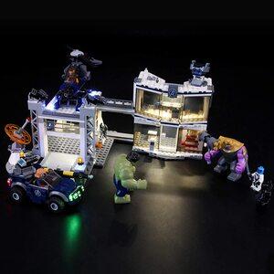 Lego Batalla en el Cuartel de Los Vengadores. Kit de luces led compatibles