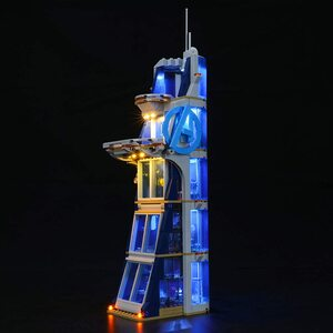 Lego Batalla en la Torre de los Vengadores. Kit de luces led compatibles