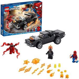 Lego Spider-Man y el Motorista Fantasma Vs Carnage con coche del motorista fantasma
