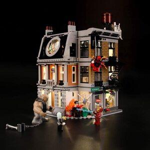 Lego Vengadores Infinity War. Duelo en Sancta Sanctorum, Kit de luces led compatibles.