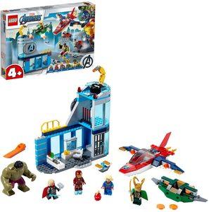 Lego Vengadores, La Ira de Loki. Con Iron Man, Thor, Hulk, la Capitana Marvel y Loki