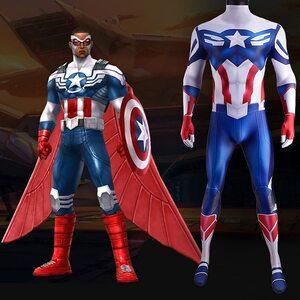 Adulto Disfraz del Capitán América de Sam Wilson