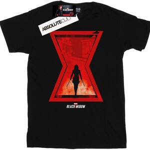 Camiseta Black Widow Poster Silueta Viuda Negra