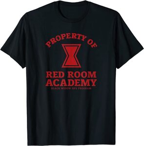 Camiseta Black Widow Red Room Academy