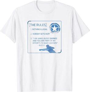 Camiseta Falcon y el Soldado de Invierno Bucky Barnes Sus Reglas