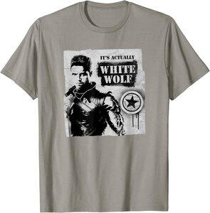 Camiseta Falcon y el Soldado de Invierno Bucky Barnes el Lobo Blanco