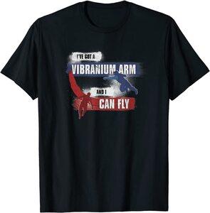 Camiseta Falcon y el Soldado de Invierno Tengo un Arma de Vibranio y Puedo Volar