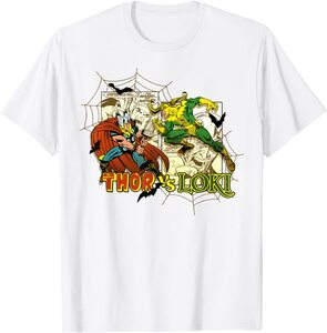 Camiseta Loki Comic Loki contra Thor
