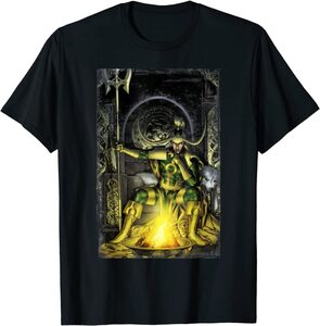 Camiseta Loki Dibujo en su Trono Fuego