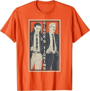 Camiseta Loki El Tic-Tac del reloj Retro Naranja