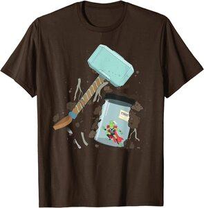 Camiseta Loki Throg en Frasco con Mjolnir