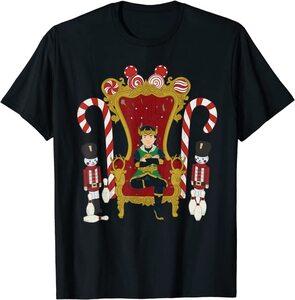 Camiseta Loki Variante Kid en Trono Bastón de Caramelo Navidad