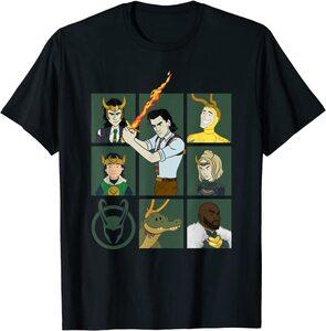 Camiseta Loki Variantes de Loki con Símbolo