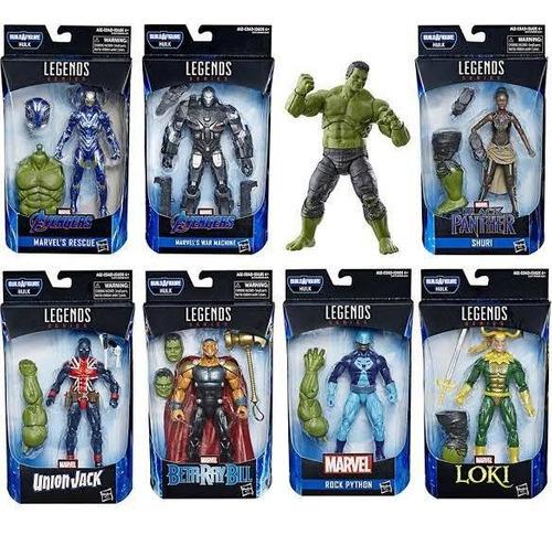 Extra de las figuras Marvel Legends Built a Hulk