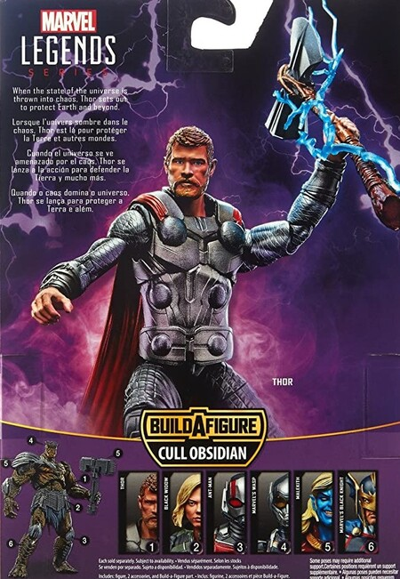 Extra de las figuras Marvel Legends Infinity War Cull Obsidian