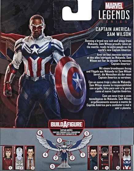 Extra de las figuras Marvel Legends Series de Falcon y El Soldado de Invierno
