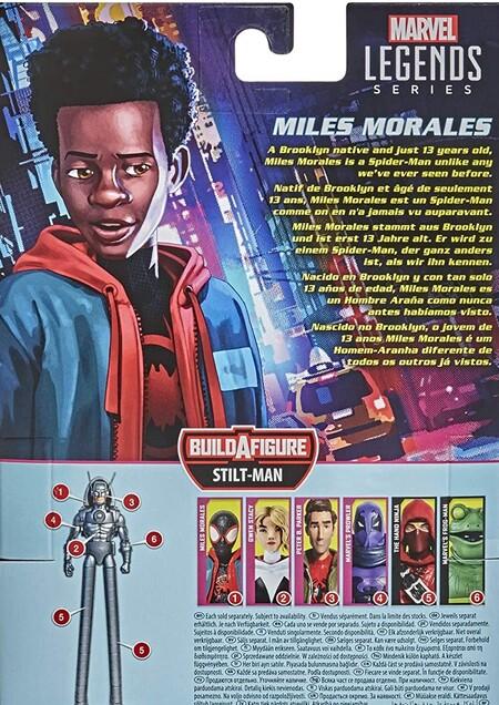 Extra de las figuras Marvel Legends Series de Spider-Man Miles Morales Into the Spiderverse