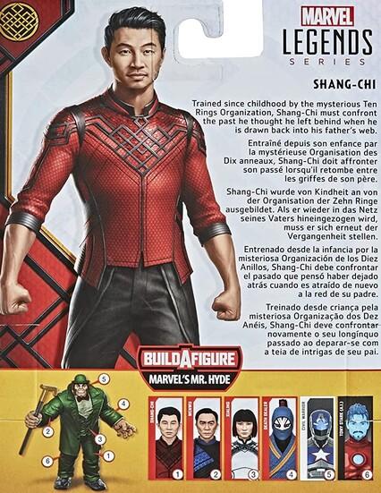 Extra de las figuras Marvel Legends Shang Chi