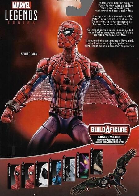 Extra de las figuras Marvel Legends Spider-Man Home coming