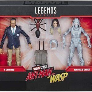 Figura Marvel Legends Ant-Man y la Avispa Pack con X-Con Luis y Ghost