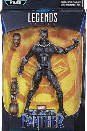 Figura Marvel Legends Black Panther Construye MBaku