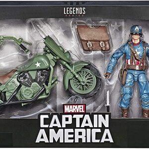 Figura Marvel Legends Capitan America con moto Especial 80 aniv. Marvel