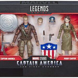 Figura Marvel Legends Capitan America y Peggy Carter